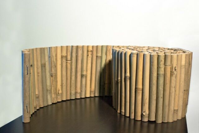 "BF03-NATURAL BAMBOO LANDSCAPE EDGING, 8"" x 10'"