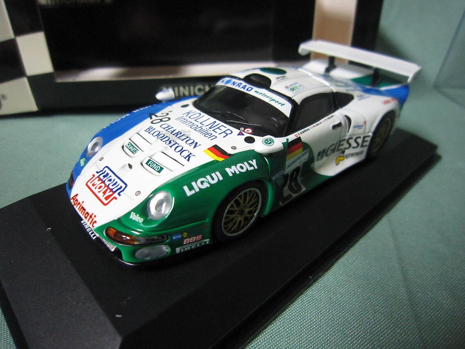 DV5072 MINICHAMPS PORSCHE 911 GT1  28 KONRAD GIESSE LE MANS 1997 430976628 1 43