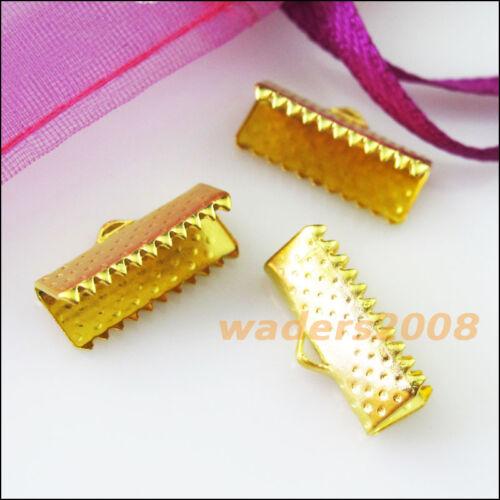 35 nouveau 20 mm Over Clip Tips Cord Crimp Ends Bead Caps Connecteurs