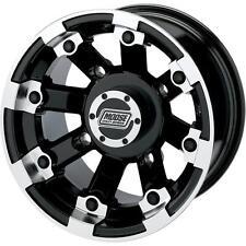 Moose Black 393X Cast Aluminum ATV/UTV Wheel Rear 8 12 393MO128110BW4
