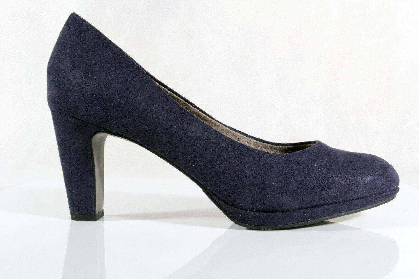 Damen Pumps Slipper,  Trotteur, Pumps  blau,  Slipper,  NEU 76787c