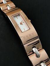 DKNY NY2141 Women's Beekman Rose Gold Stainless Steel Bracelet Watch NWT Box