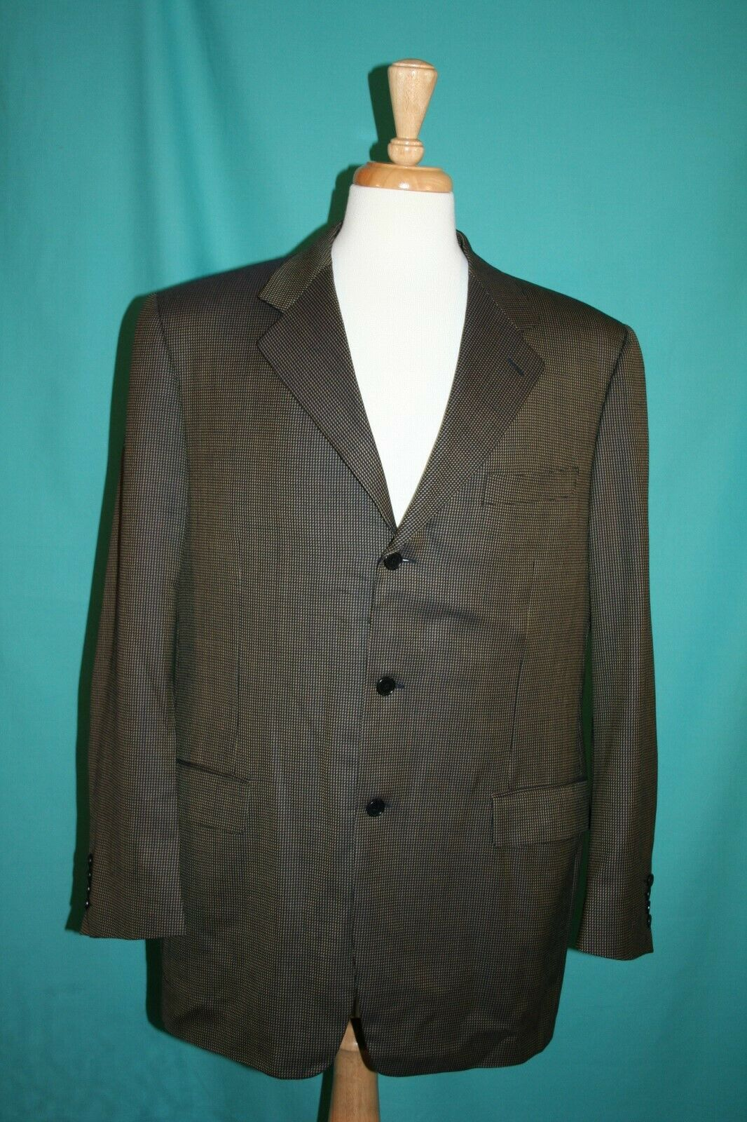 Canali 100% Wool Sport Coat Or Suit Separate Made In  44 44R