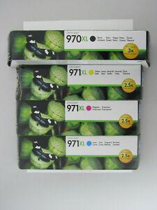 Original HP Tintenpatronen 970XL 971XL 4er-Pack für Officejet X451 X451dw X576dw