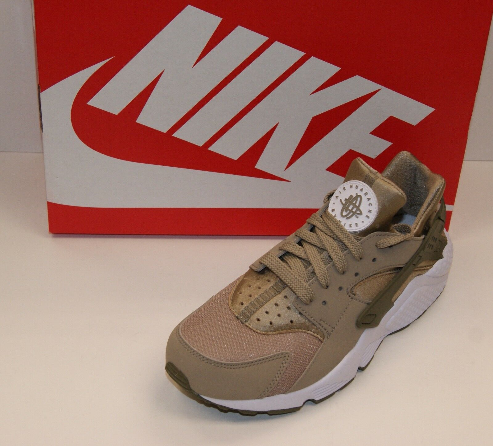 NIKE AIR HUARACHE Khaki/Olive/White Men's Running Shoes 318429-200 Brand New  Casual wild