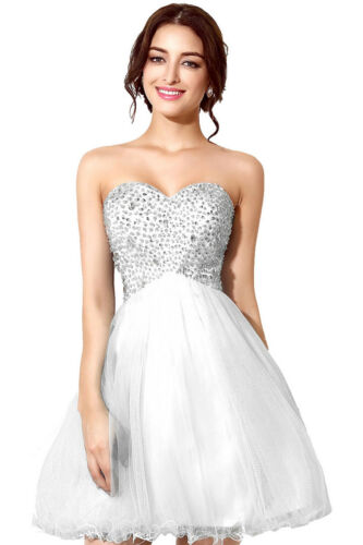 Kurz Cocktailkleid Party Brautjungferkleid Abschlussball Abendkleid MädchenMini