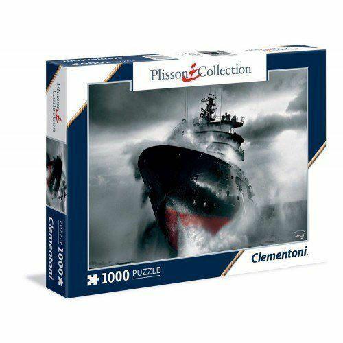 PUZZLE PLISSON COLLECTION PANORAMA 1000 pezzi Rescue at Sea CM.98X33 CLEMENTONI
