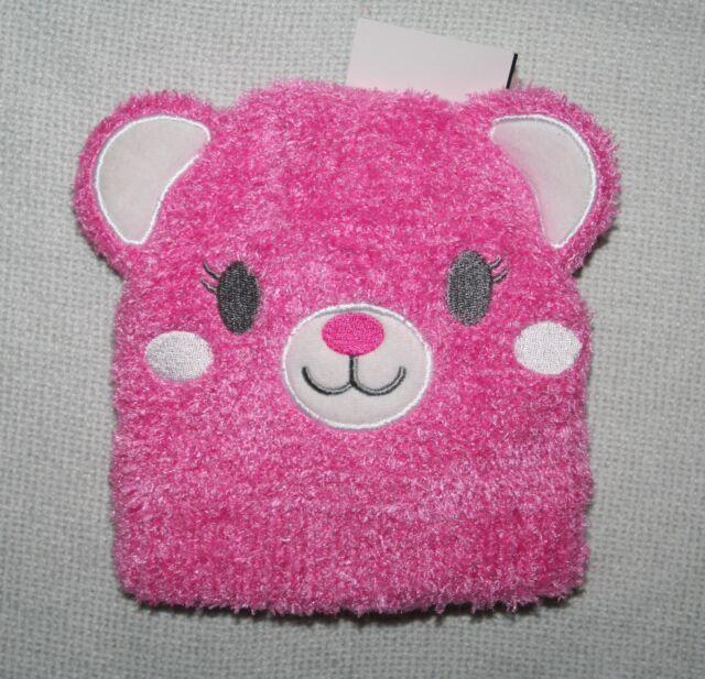 a573454b5 Laura Ashley Baby Girls Pink Fleece Teddy Bear Hat & Mittens Set Age 6-12 M