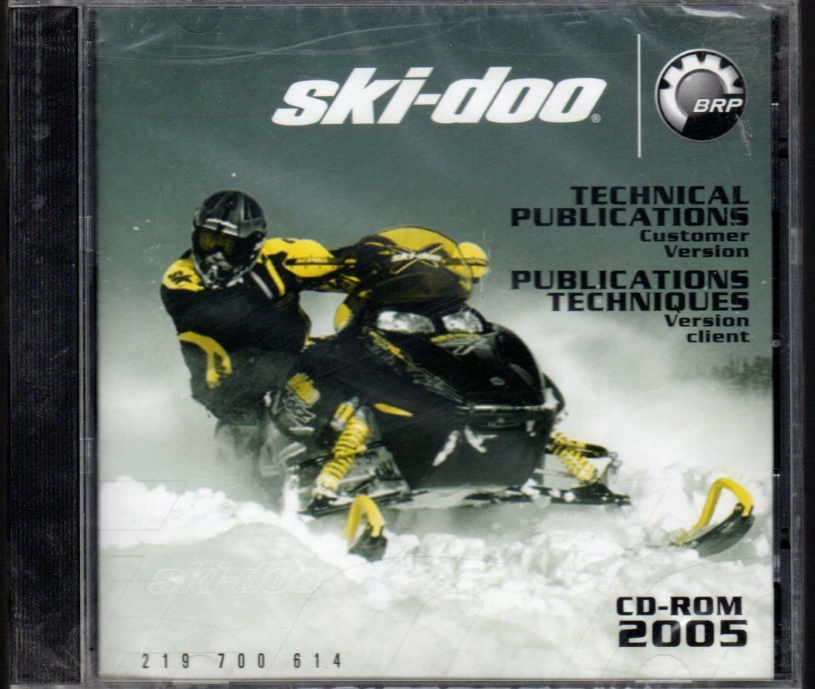 2005 SKI-DOO SNOWMOBILE TECHNICAL PUBLICATIONS MANUAL CD-ROM NEW 219 700 614