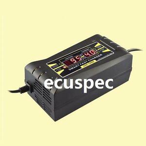 automatic smart 12v 6a lead acid gel battery charger car motorcycle uk plug. Black Bedroom Furniture Sets. Home Design Ideas