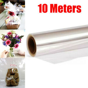 10m-X-54cm-Clear-Cellophane-Wrap-Roll-Gift-Flower-Bouquet-Baskets-Wrapping-Paper
