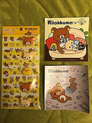 NEW San-X Rilakkuma Puffy and Transparent Stickers