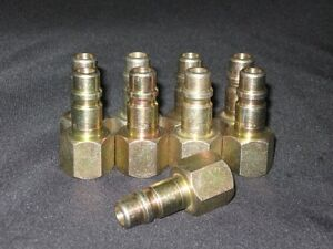 """LOT OF 4 PARKER HANNIFIN QUICK COUPLING 1/2""""FEMALE PIPE THREAD NIPPLE"""