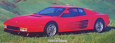 Ferrari Testarossa Poster 11 X 28 Inches Ebay