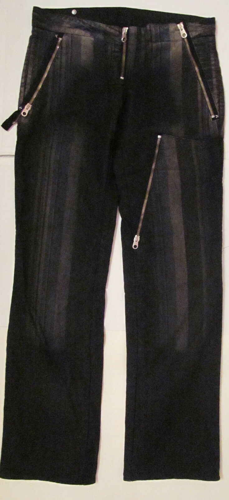 Rare vintage DIESEL  STAFF INTERNATIONAL  striped zippers goth punk jeans pants