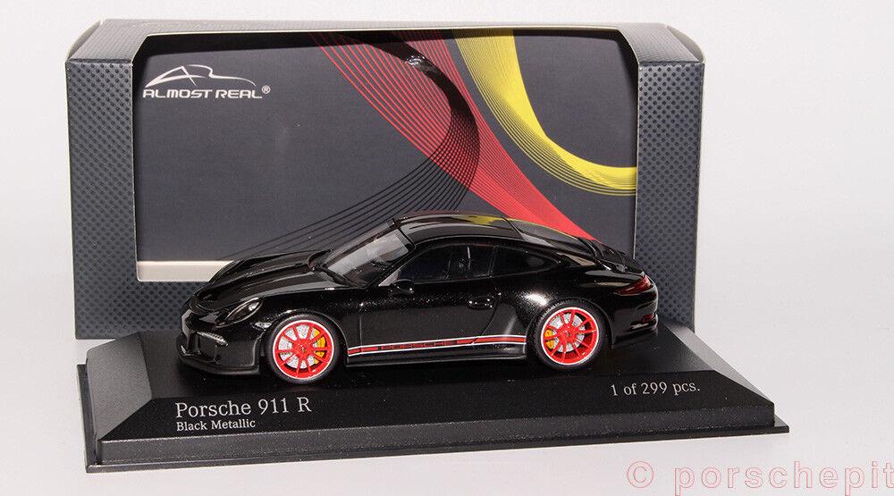Porsche 991 911r Noir-Rouge, almost Real 1 43 RARE
