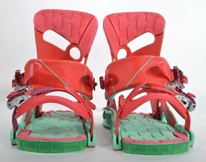42c1f29e2955 2016 WOMENS SALOMON MIRAGE SNOWBOARD BINDINGS  278 S red turquoise ...