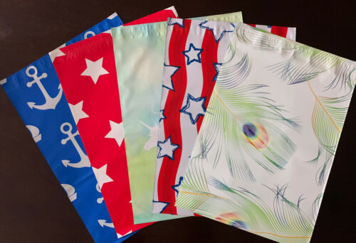 200 Multi Color 10x13 Designer Poly Mailers Shipping Envelope  Shipping Bags