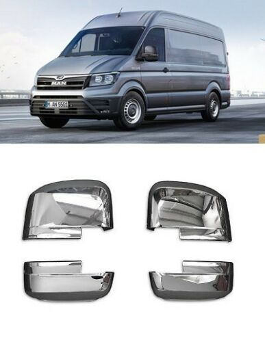 MAN TGE 2017-2018 VAN WING SIDE MIRROR COVERS RIGHT /& LEFT CHROME