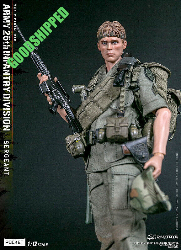 DAMTOYS PES005 25TH INFANTRY DIVISION PRIVATE SERGEANT 1 12 NEW