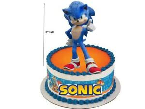 3d Cool Sonic The Hedgehog Birthday Cake Topper Cardstock Paper Doll Party Favor Ebay