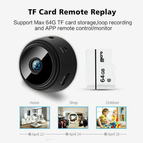Mini-Spy Camera Wireless Wifi IP Home Security HD 1080P DVR Night Vision Remote
