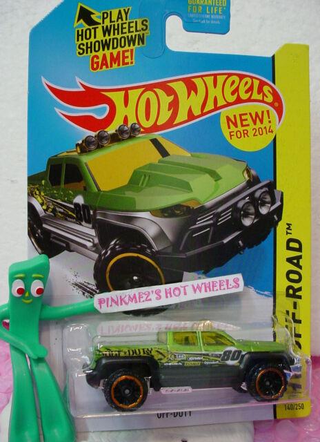 2014 Hot Wheels Fuera de Servicio #140 Verde/Negro/Amarillo Camión; 80Hw