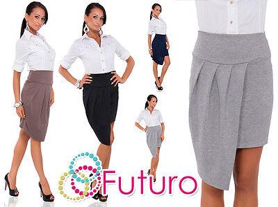 Womens Wrap Asymmetrical Skirt Cut Out New Uk High Waist Skirt Size 8-12 Fk1270 Bequem Und Einfach Zu Tragen