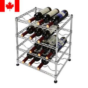 Sortwise® 16 Bottles Holder Wine Rack Storage 4 Tier Display Shelves Kitchen Bar