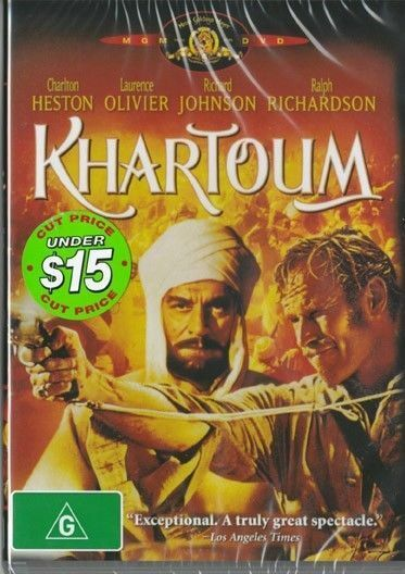 Khartoum -  Charlton Heston New and Sealed DVD
