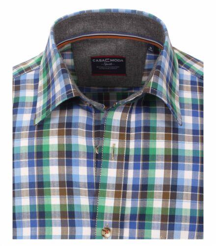 Premium Moda size Collar Blue Casa Shirt Xxl Kent 5xl Ls In Fit Comfort Cotton axPqqCw