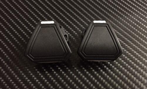Unbranded Football Helmet Visor Eye Shield QUICK-RELEASE Clips Black//White CC