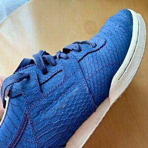 REEBOK-Baskets-en-Cuir-Veritable-Bleu-UK-5-EUR-38
