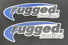 2 Rugged Radios Racing Decals Stickers 3x9 Offroad Utv Overland Bitd Powersport