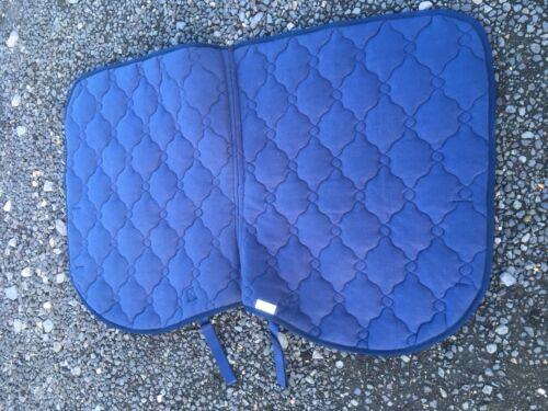Blue Numnah Saddle Cloth Padded Full Size