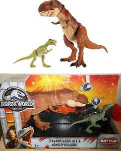 Jurassic World - T-Rex Monolophosaurus - Dinosaurier Set - Mattel - Rabenau, Deutschland - Jurassic World - T-Rex Monolophosaurus - Dinosaurier Set - Mattel - Rabenau, Deutschland