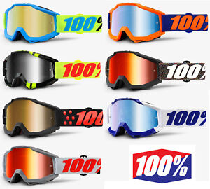 5a599afaf2a 2018 100% PERCENT ACCURI MX MOTOCROSS GOGGLES with MIRROR   CLEAR ...