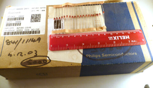 Philips BZV85-C5V6 Zener Single Diode 5.6 V 1.3 W DO-41 200°C 20 Pieces MBD019E