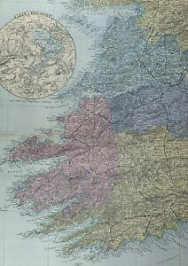 Details about 1891 ANTIQUE MAP IRELAND SOUTH WEST LAKESOF KILLARNEYLIMERICK on map of carlow ireland, map of oughterard ireland, map of clonmel ireland, map of county cork ireland, map of galway city ireland, map of roundstone ireland, map of skibbereen ireland, map of bunratty ireland, map of schull ireland, map of youghal ireland, map of ballylongford ireland, map of munster ireland, map of letterkenny ireland, map of meath ireland, map of mullingar ireland, map of cobh ireland, map of county limerick ireland, map of kilkenny county ireland, map of westmeath ireland, map of west cork ireland,