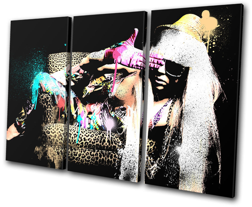 Musical Lady Gaga Grunge Abstract Abstract Abstract TREBLE TELA parete arte foto stampa 74d72a