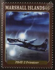US Navy Consolidated PB4Y-2 PRIVATEER WWII Patrol Aircraft Mint Stamp (2013)