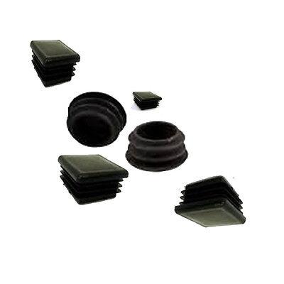 carré BOUCHON EN PLASTIQUE Fentes CAPUCHON EMBOUTS pour Tube D'acier fentes/