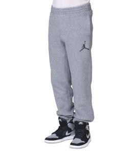 7eeb10f25a2cbf NIKE AIR JORDAN Boys Fleece Pants Warm Jogger Sweat Pants Gray Size ...
