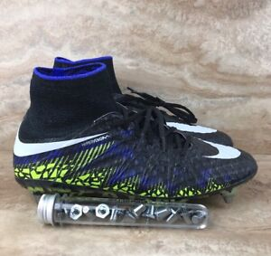 fbfe336d63361 Nike Hypervenom Phantom II 2 SG Pro ACC Soccer Cleats Black Purple ...