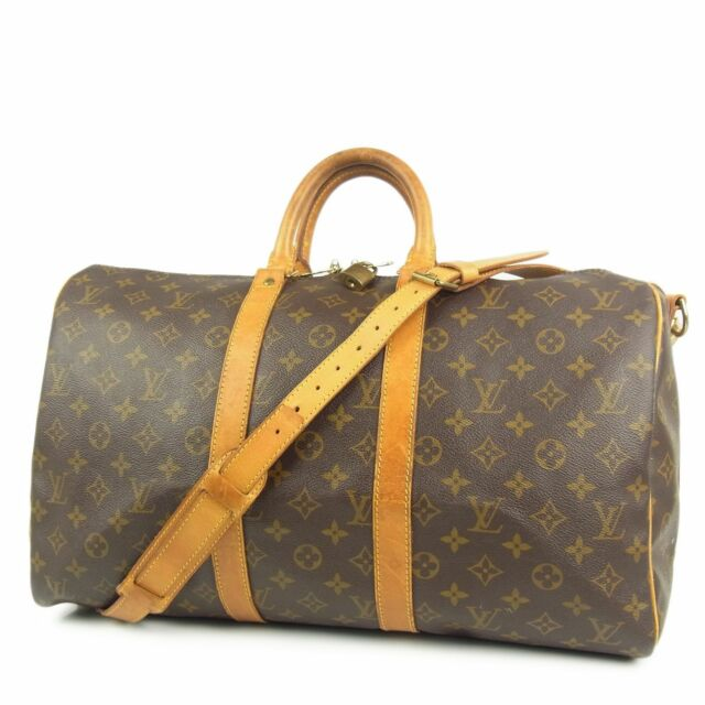 Auth Louis Vuitton M41418 Monogram Keepall Bandouliere 45 Travel Hand Bag 2289