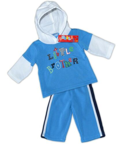 pantalon Bubble /& Boo: 2 pièces Baby-freizeitset Hoodie garçon 0-6 mois NEUF