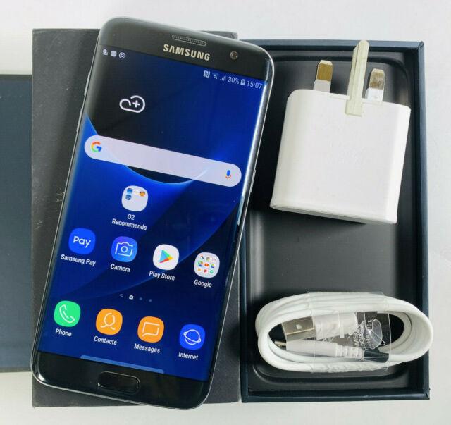Samsung Galaxy s7 Edge sm-g935f 32gb Schwarz Entsperrt SIM Frei Guter Zustand 395