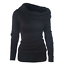 Women-039-s-Off-Shoulder-Cowl-Neck-Sweater-Jumper-Long-Sleeve-Casual-Pullover-Tops thumbnail 6