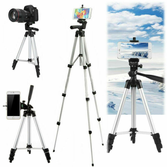 Universal Camera Telescopic Tripod Stand Mount Phone Holder for iPhone Samsung/