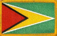 Guyana Flag Military Patch With Velcro® Brand Fastener Gold Border